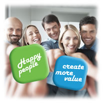 Happy people create more value